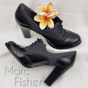 Marc Fisher Oxford Shoes Block Heels Lace Up